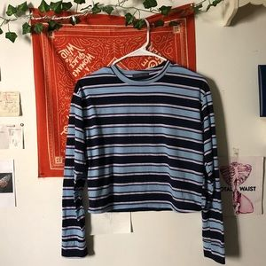 Blue and Purple Striped Long Sleeve ☔️